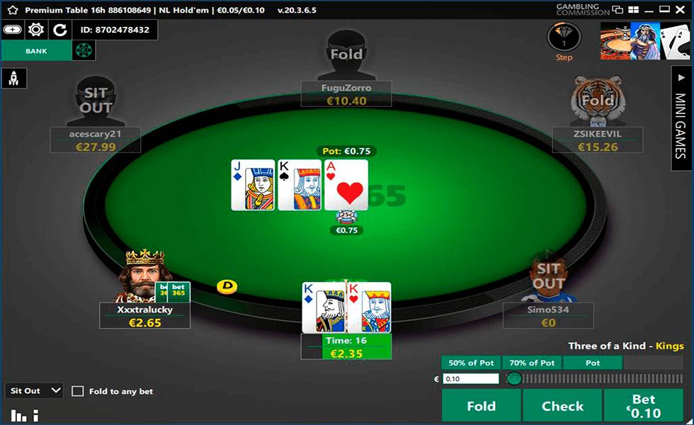 Sitio de póker bet365 Poker