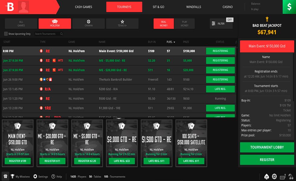 Pokerseite BetOnline Poker