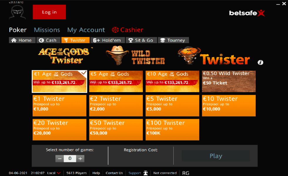 Site de Poker Betsafe Poker