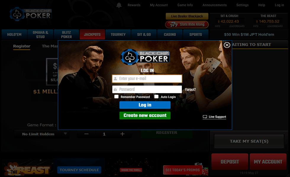 Site de poker Black Chip Poker