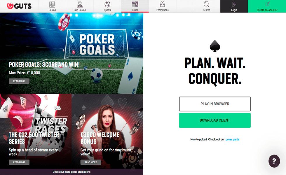 Sitio de póker Guts Poker