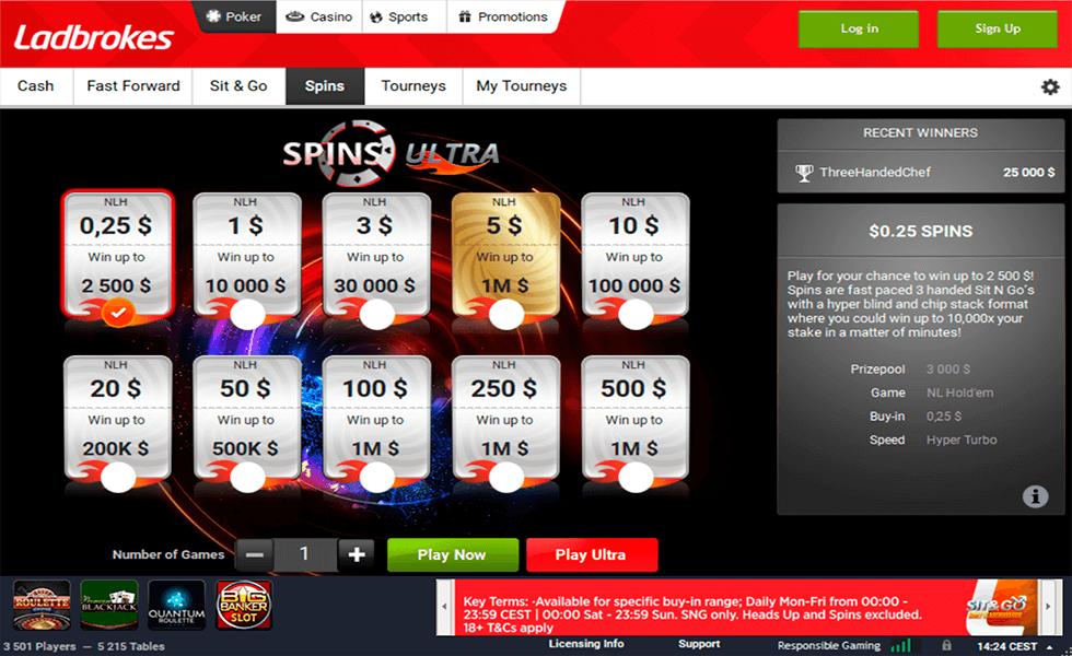 Site de Poker Ladbrokes Poker