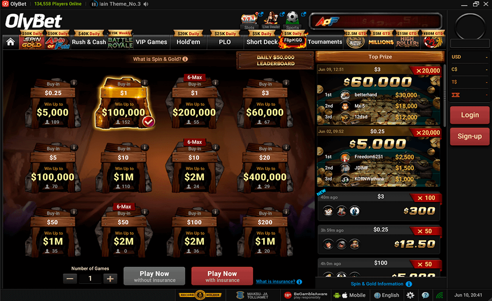 Site de Poker OlyBet Poker