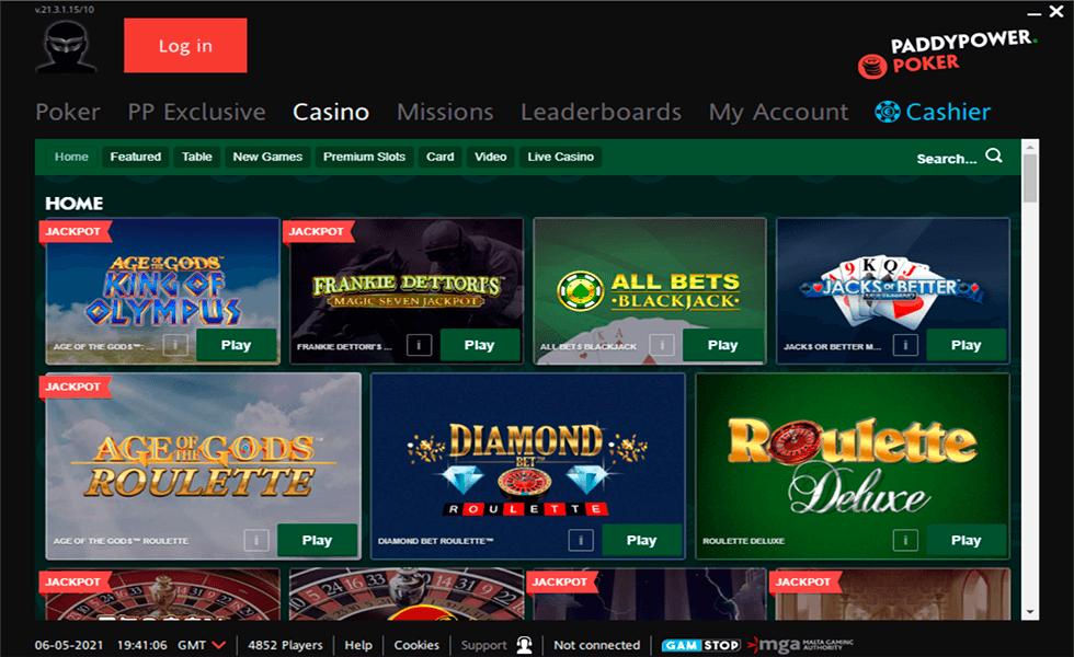 Site de poker PaddyPower Poker