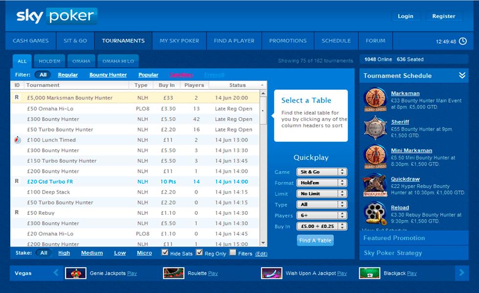 Sito di poker  SkyPoker