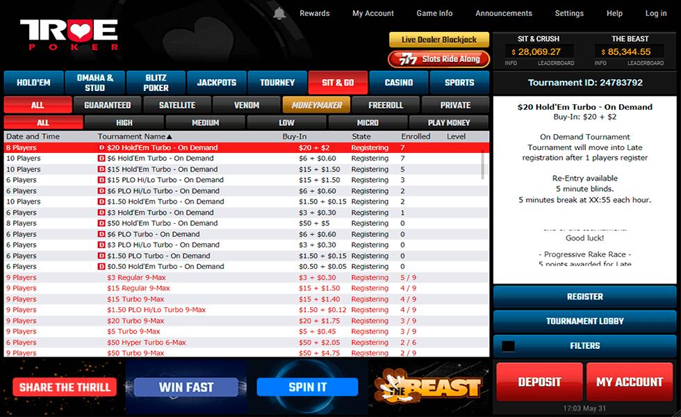 Site de Poker True Poker