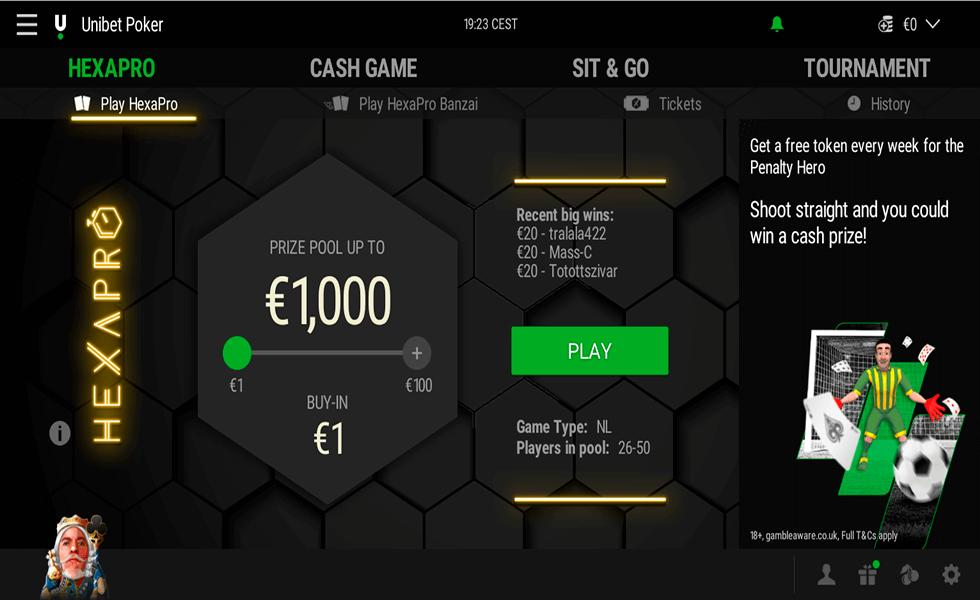 Site de Poker Unibet Poker