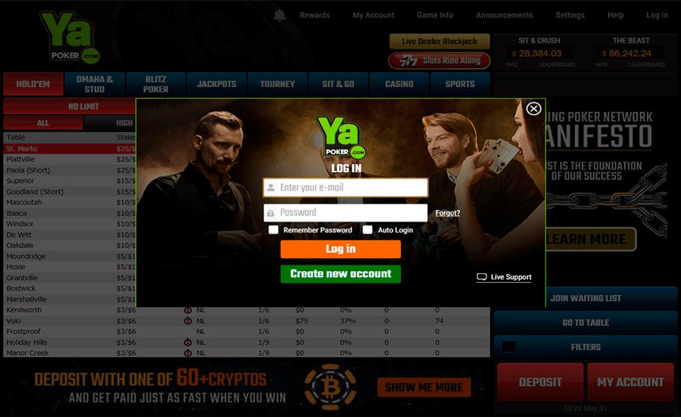 Site de poker Ya Poker