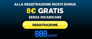 888poker bonus senza deposito